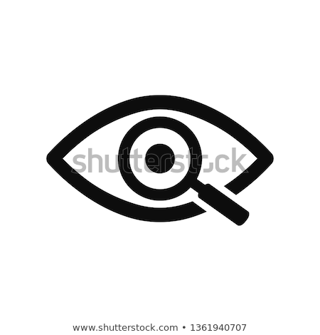 Dettaglio inchiesta lente di ingrandimento uno bianco ricerca Foto d'archivio © dezign56