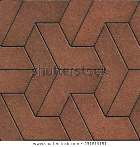 Brown Paving Slabs in the Trefoils form. Stock photo © tashatuvango