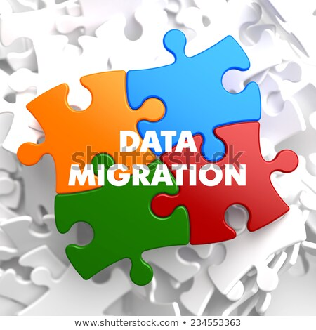 Data Migration on Multicolor Puzzle. Stock photo © tashatuvango