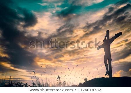 három · kereszt · domb · hegy · Jézus · halál - stock fotó © kayco
