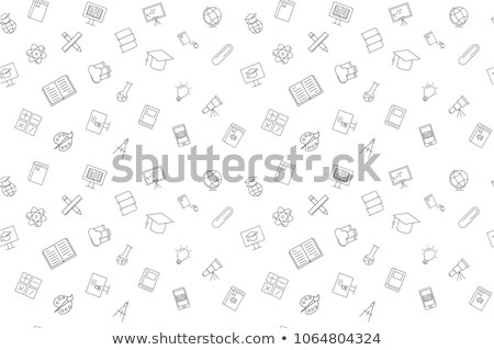 vector seamless pattern with education mobile icons   abstract stock photo © michalsochor