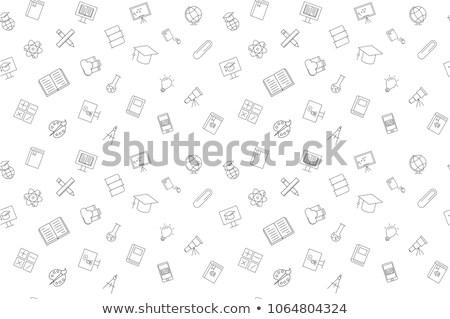 végtelenített · papír · textúra · pöttyös · absztrakt · ceruza · rajz - stock fotó © michalsochor
