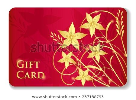 高級 赤 ギフトカード 花 ストックフォト © liliwhite