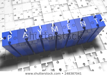 Mobile Payments on Blue Puzzle. Stock photo © tashatuvango