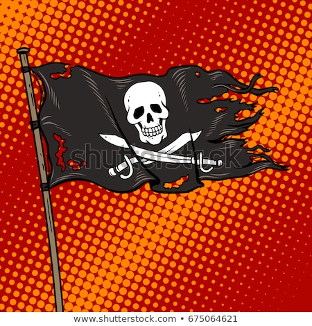 Book and Pirate Flag Stock photo © devon