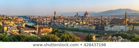 мнение · Флоренция · вечер · Италия · холме · город - Сток-фото © joyr