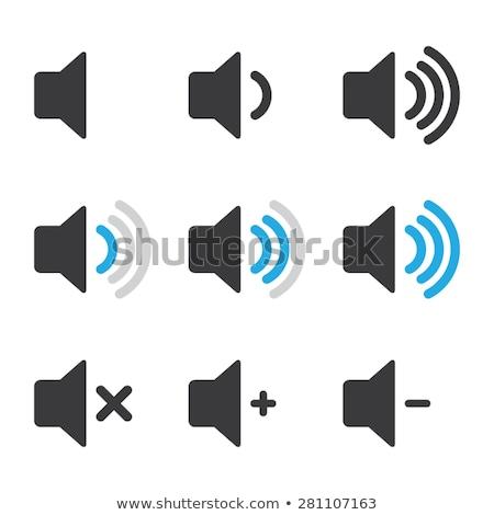 Spreker volume icon Blauw knop business Stockfoto © aliaksandra