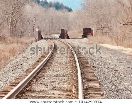 Vonat alsó kilátás naplemente fém kő Stock fotó © hlehnerer