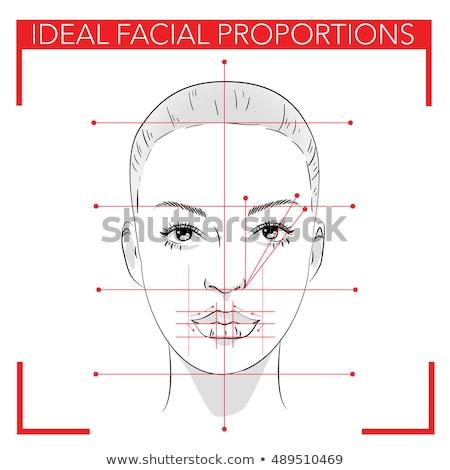 Kız mükemmel yüz oran güzel güzel Stok fotoğraf © arvinproduction