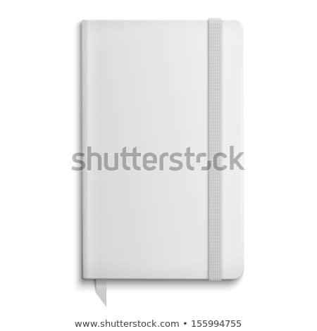 Schönschreibheft Vorlage geöffnet Lesezeichen Papier Design Stock foto © iunewind