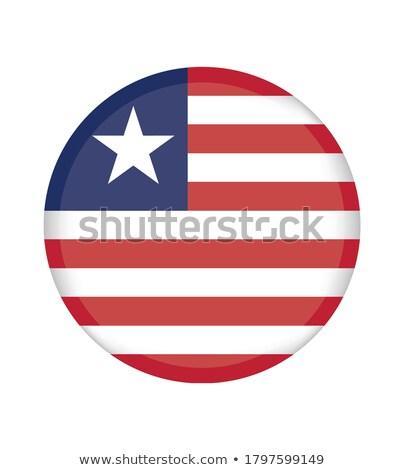 Gomb szimbólum Libéria zászló térkép fehér Stock fotó © mayboro1964