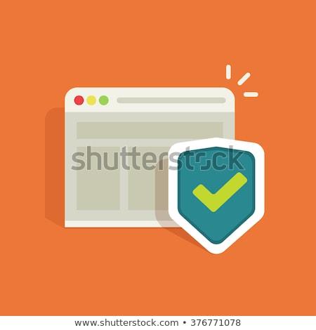 Ssl защищенный ссылку зеленый вектора икона Сток-фото © rizwanali3d