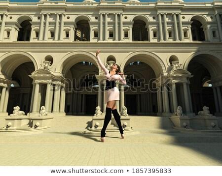 ストックフォト: 位置 · フィート · 手 · クラシカル · バレエ · 少女