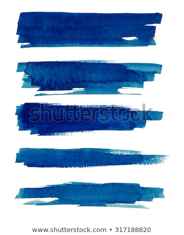 Grunge Brush Strokes of Blue Paint Stock photo © stevanovicigor