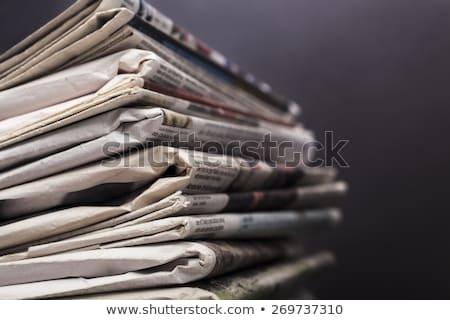 spor · haber · gazete · rulo · beyaz - stok fotoğraf © zerbor