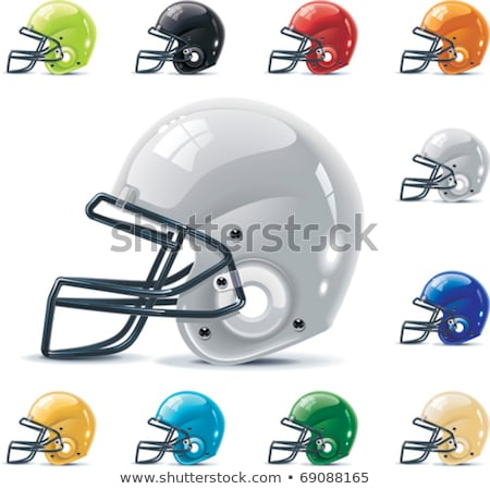Black Football Helmet On White Stok fotoğraf © tele52