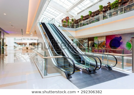 shopping mall escalators stock photo © wxin