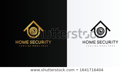 Stock photo: Home Security Logo with Key