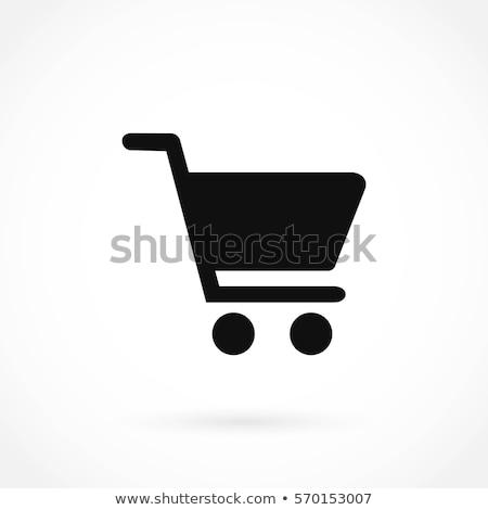 Bevásárlókocsi kosár kosár ikon vektor kép Stock fotó © Dxinerz