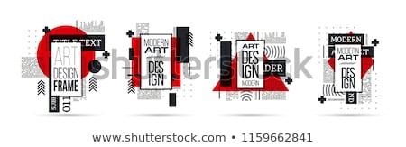 Abstract business meetkundig vector ontwerp eps Stockfoto © PokerMan