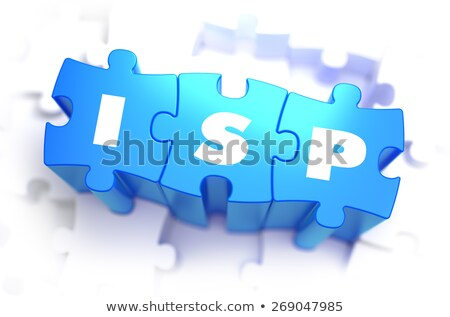 ISP - Text on Blue Puzzles. Stock photo © tashatuvango
