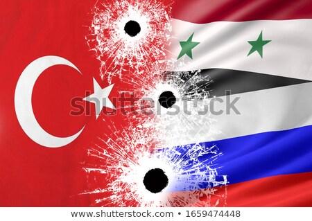 Russo Turquia bandeiras quebra-cabeça vetor imagem Foto stock © Istanbul2009