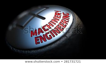 Maszyn inżynierii przesunąć wpływ czerwony Zdjęcia stock © tashatuvango