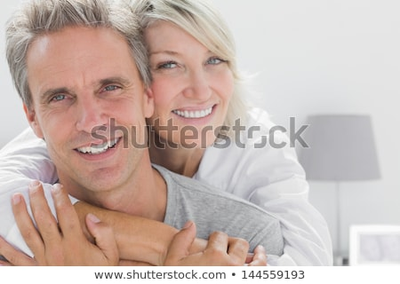 Portrait calme couple printemps sourire Photo stock © konradbak