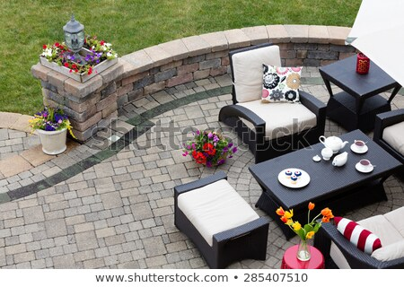 Curved entrance to an outdoors patio Stock photo © ozgur