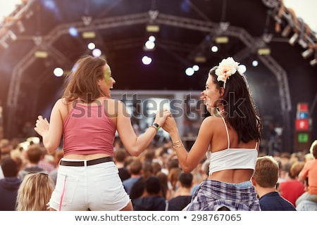 Photo stock: Two Young Women On Stage