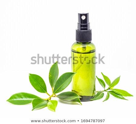 Citromsárga spray üveg fehér műanyag tál Stock fotó © JFJacobsz
