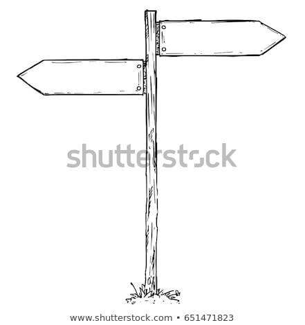 wooden crossroad sign Stock photo © kovacevic