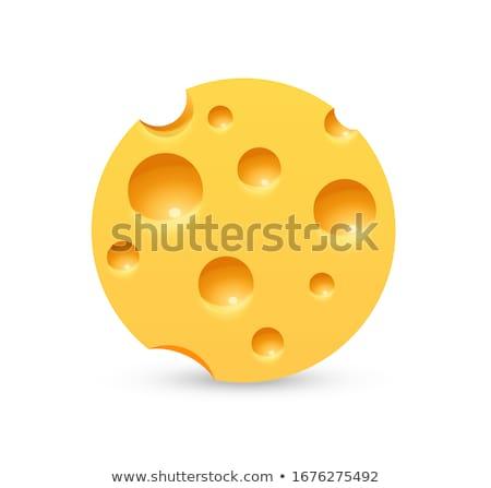 vector logo triangular slice of cheese Stock photo © butenkow