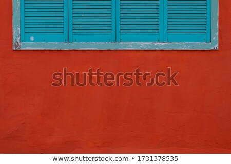 Blue wooden wall with the inscription We are closed Stock photo © Zerbor