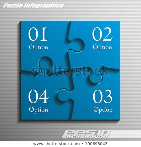 プロセス 文字 青 白 3dのレンダリング 色 ストックフォト © tashatuvango