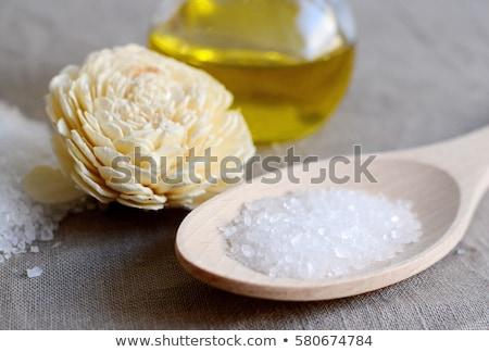 Casero piel sal marina aceite de oliva lavanda Foto stock © joannawnuk