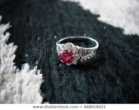 white gold ruby ring stock photo © kirs-ua