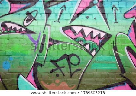 Ilegal palabra pintura pared gris hombre Foto stock © fuzzbones0