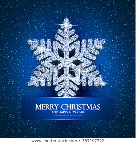 Diamond xmas snow flake, vector illustration Stock photo © carodi