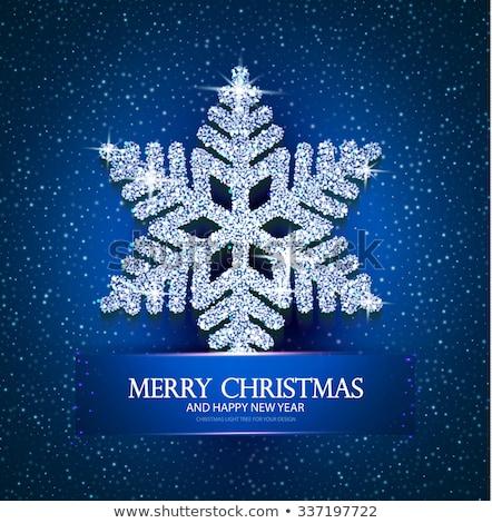 Diamond xmas snow flake, vector illustration Stock photo © carodi