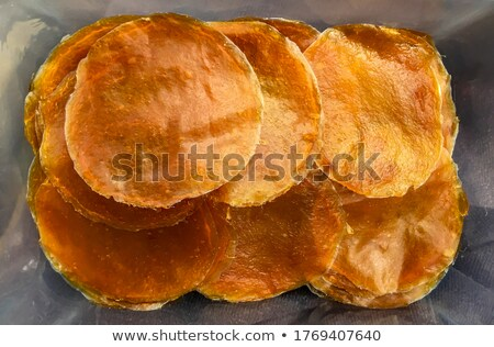 Row of Organic Sour dried mango. Stock photo © ziprashantzi