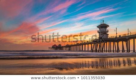 Pier Californië kust zonneschijn lege strand Stockfoto © emattil
