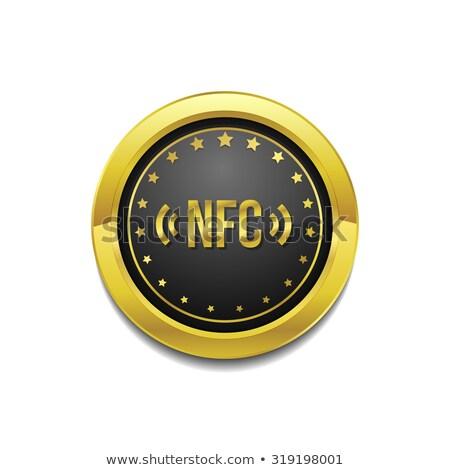 Vetor ouro ícone web botão telefone Foto stock © rizwanali3d