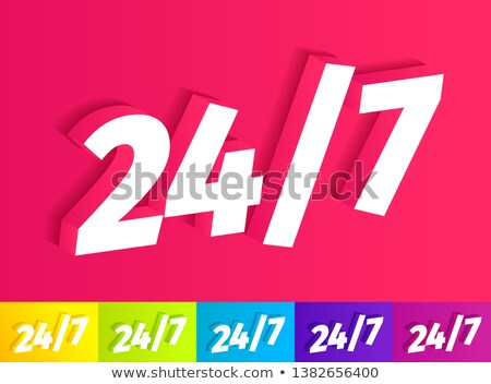 24 Hours Customer Support Purple Vector Icon Stock photo © rizwanali3d