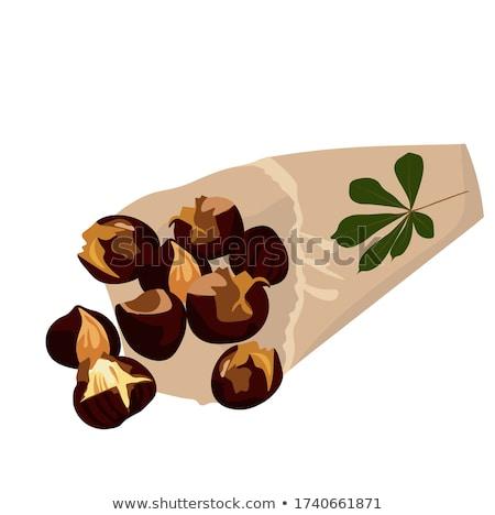 Laisse rustique table en bois fruits Photo stock © homydesign