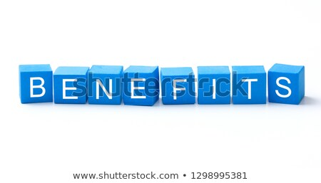 Benefit - White Word on Blue Puzzles. Stock photo © tashatuvango