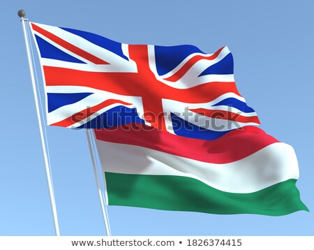 húngaro · bandeiras · bandeira · tecido · vermelho - foto stock © istanbul2009