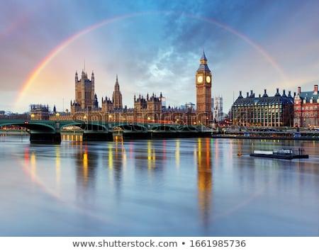 Tower · Bridge · London · Großbritannien · sunrise · Morgen · Himmel - stock foto © chris2766