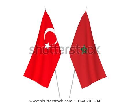 トルコ モロッコ フラグ パズル 孤立した 白 ストックフォト © Istanbul2009