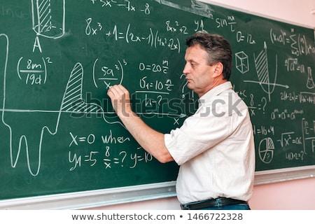 Leraar Blackboard vrouwelijke schoolbord Stockfoto © x7vector